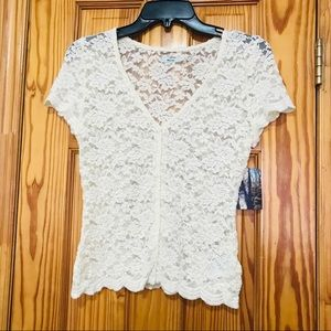 Brand new Kimchi Blue Lace Button Down Top